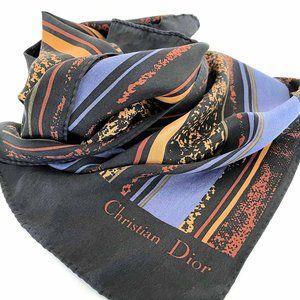 Vintage Christian Dior silk 90's print scarf